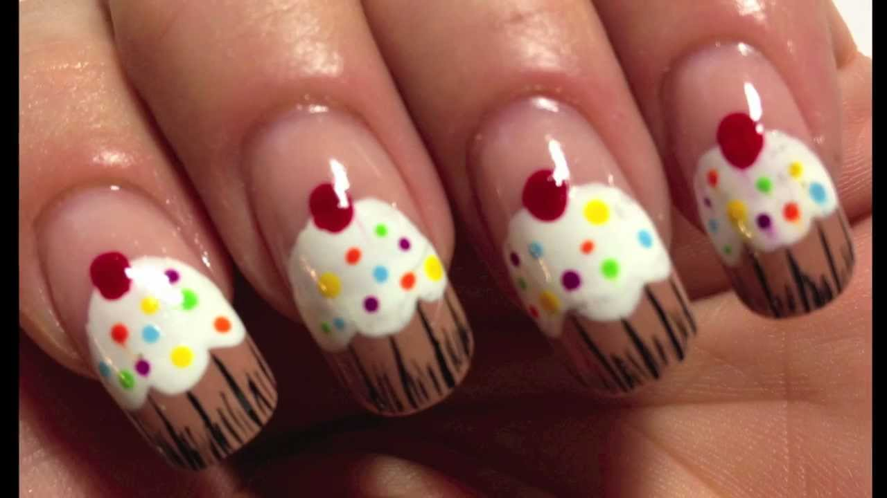Nail art design tutorial sweet cupcake simple youtube prinsesfo Image collections