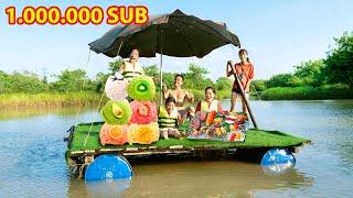 Ăn Mừng 1 Triệu Người Đăng Ký Làm Du Thuyền Bể Bơi Khổng Lồ ❤ Bữa Tiệc Kem - Trang Vlog