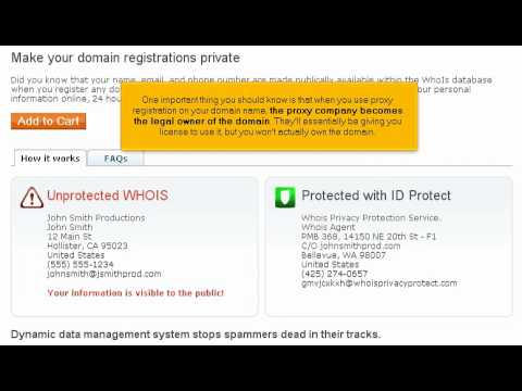 Hosting Tutorial Video 17 Private Domain Registration