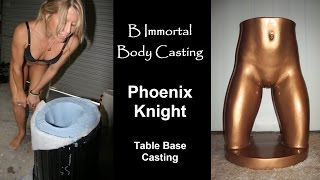 Repeat youtube video Body Casting Phoenix Knight (Full round lower torso, butt & legs to make a nude table base)