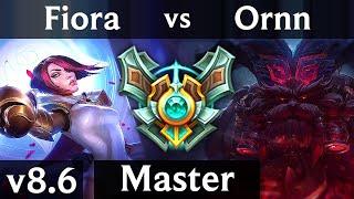 FIORA vs ORNN (TOP) /// Korea Master /// Patch 8.6