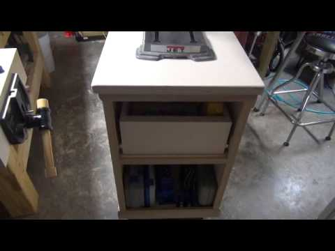 Mobile Base And Storage Cabinet For A Bench Mounted Drill