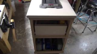 Mobile Base And Storage Cabinet For A Bench Mounted Drill Press