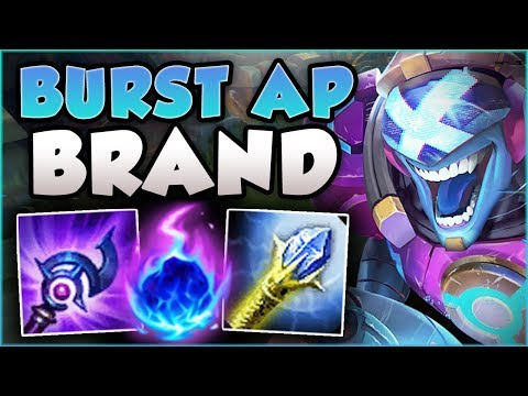 ONE COMBO = ONE KILL?? BURST AP BRAND 100% DOES TOO MUCH DMG BRAND TOP GAMEPLAY League of Legends