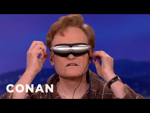 Conan Tries Deepak Chopra's Trippy Glasses – CONAN on TBS