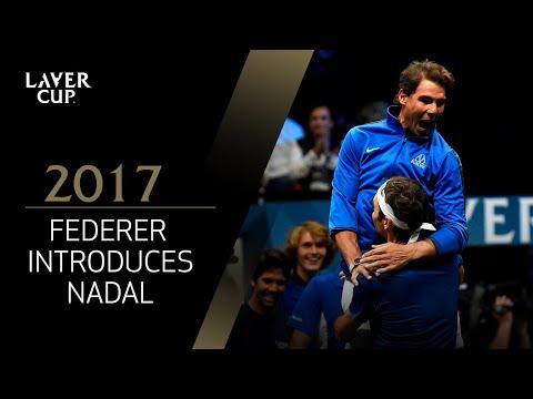 Federer introduces Nadal at gala dinner | Laver Cup 2017