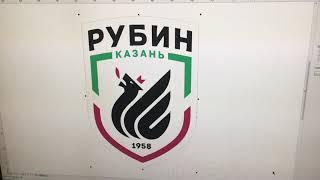 Изготовление флага футбольного клуба «Рубин». Сделано Флаг.ру