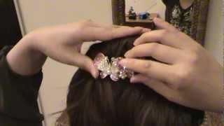 hair comb tutorial stella hair accessories