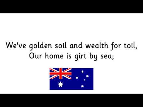 Australian National Anthem School Assembly