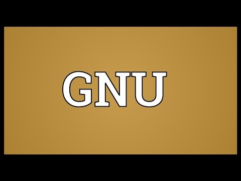 GNU Meaning