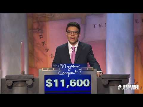 2016 Final Jeopardy! EARLY AMERICA  | Teen Tournament Finals
