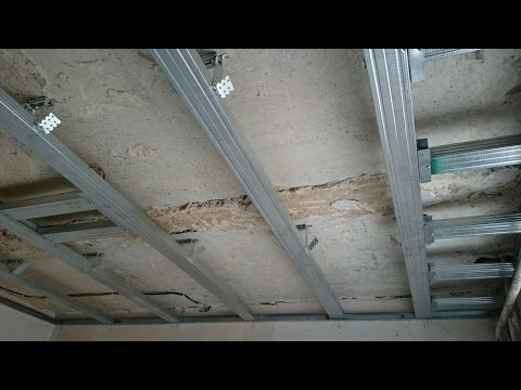 монтаж потолка с коробом-карнизом для штор. Все секреты сборки. Drywall install.