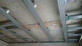 монтаж потолка с коробом-карнизом для штор. Все секреты сборки. Drywall install.(как сделать своими руками ровный потолок из гипсокартона с нишей для штор. Подробное объяснение. Монтаж..., 2015-09-25T05:33:25.000Z)