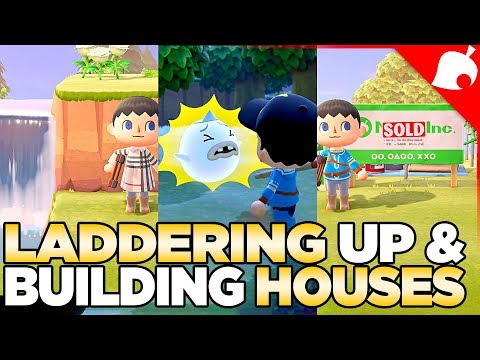 Wisp, Getting The Ladder, & Building New Homes In Animal Crossing New Horizons