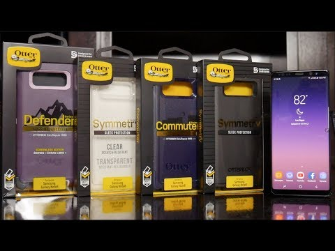 Samsung Galaxy Note 8 - All OtterBox Series Cases: Defender vs Commuter vs Symmetry Comparison