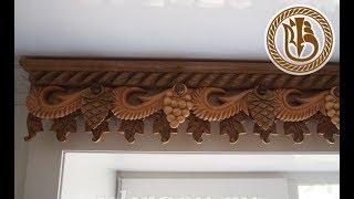Wood carving.  Золотая осень. Лист