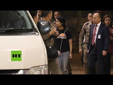 Joven saudita que huyó de su familia sale del aeropuerto de Bangkok
