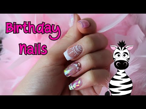 Elegant Marbling, Glitter Gradient & French Acrylic Nail Art Tutorial | MelodyMinutes thumbnail