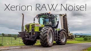 Claas Xerion leaving the field - Raw Sound - 4K
