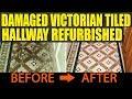 Damaged Victorian Tiled Hallway Refurbished in Port Talbot