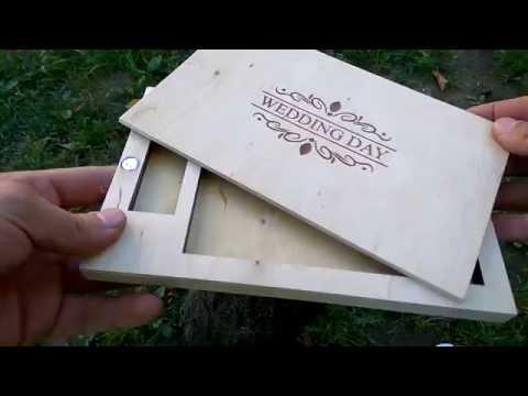 Коробочка для свадебных фотографий 001 Упаковка из дерева, коробочки смотреть онлайн