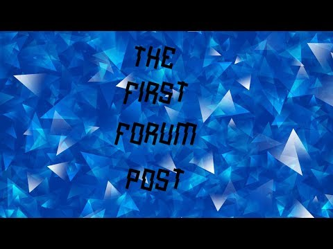 THE FIRST ROBLOX FORUM POST!