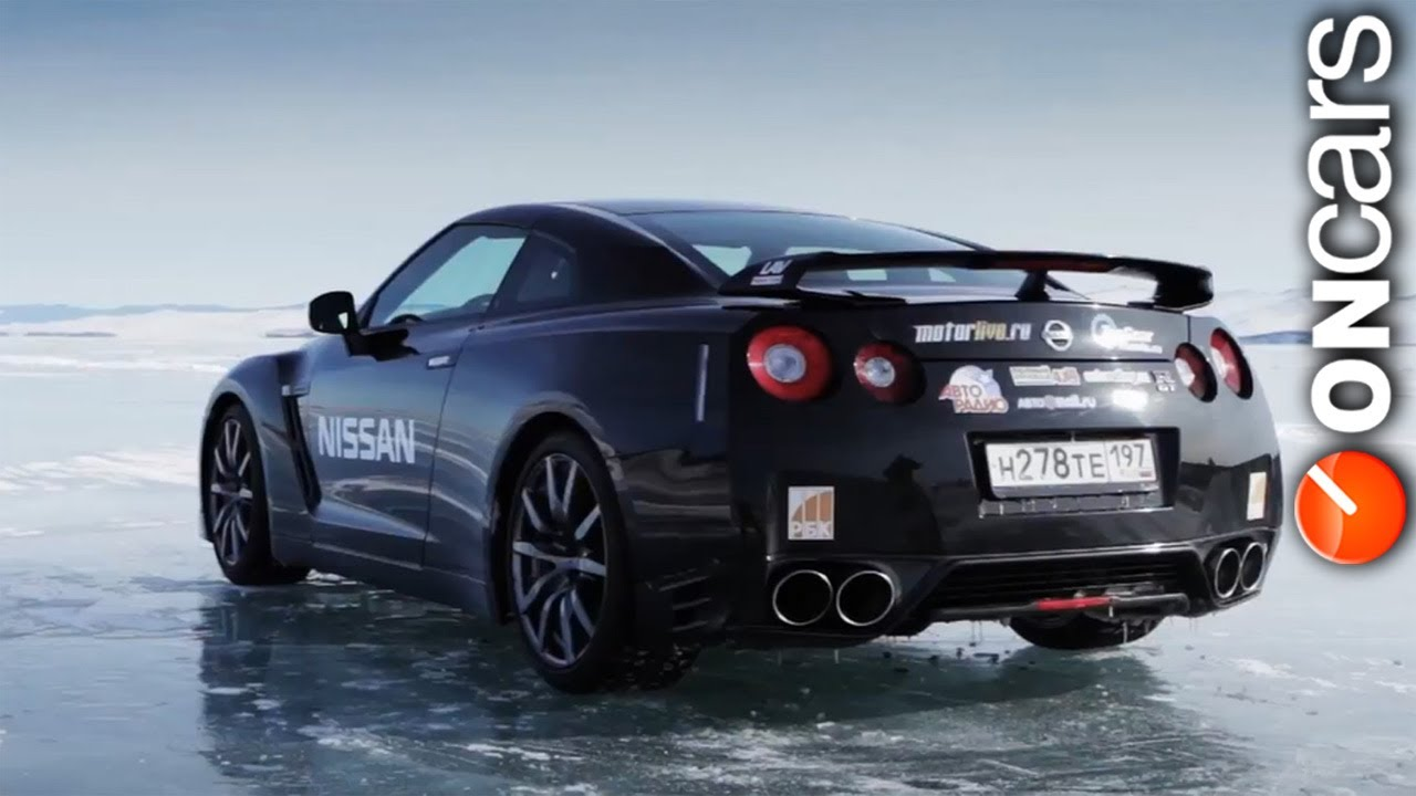 Nissan GT-R becomes the fastest car on ice in Russia - YouTube
