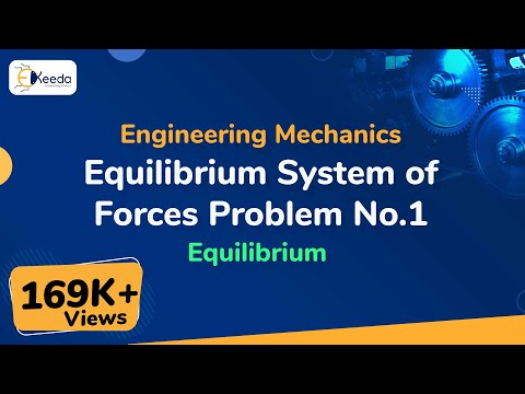 Equilibrium system of Coplanar Forces - Problem - 1 - Engineering Mechanics - First Year Engineering