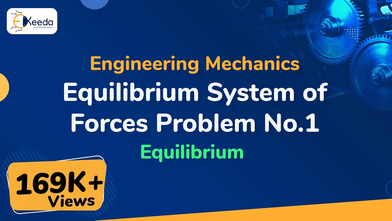 Equilibrium System of Forces - Problem 1 - Equilibrium of Forces -  Engineering Mechanics