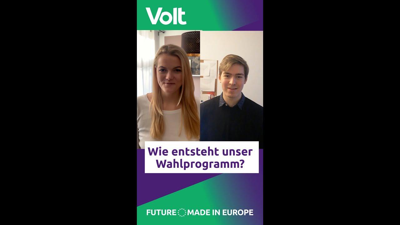 YouTube: Volt Berlin: Wie schreiben wir unser Wahlprogramm?