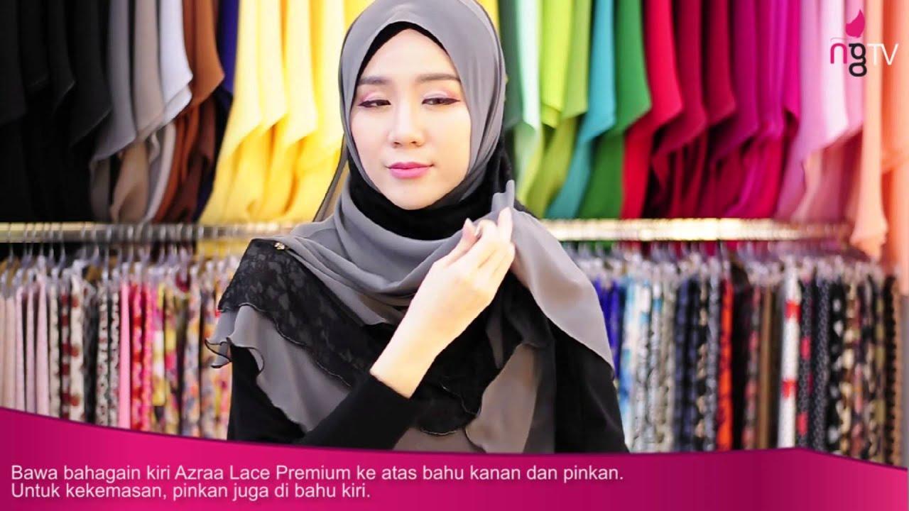 Neng Geulis Hijab Tutorial 16 Azraa LAce Premium By Felixia Yeap