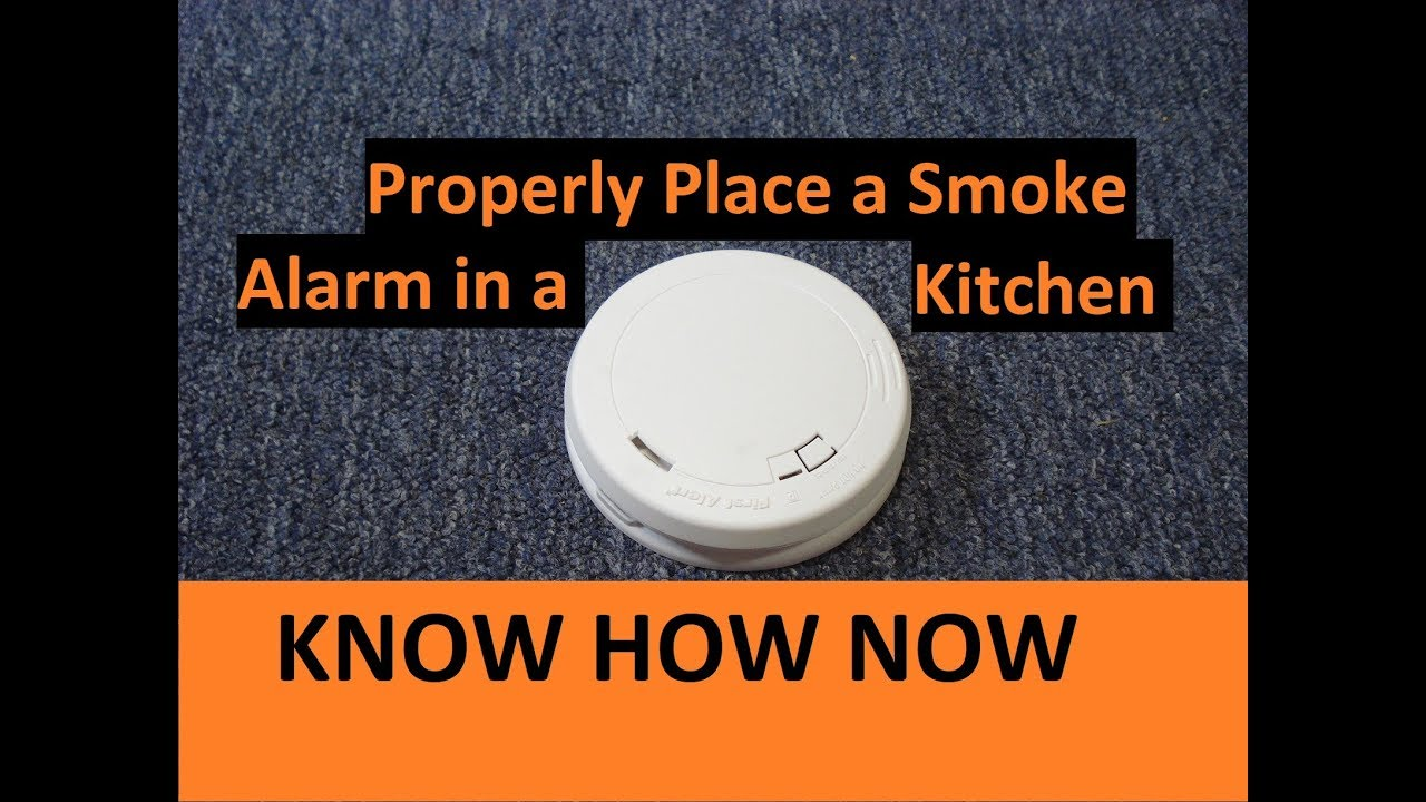 Kitchen Smoke Detector Best Backsplash Where To Put A Alarm Or In Youtube