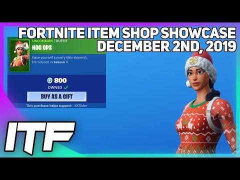 Fortnite Item Shop *RARE* NOG OPS IS BACK! [December 2nd, 2019] (Fortnite Battle Royale)