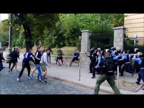 15/16 C3 Zorya Luhansk - Legia Warszawa Dynamo Kiev fans vs Legia Fans