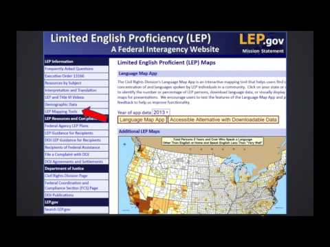 Know Your LEP Population with the Language Map App