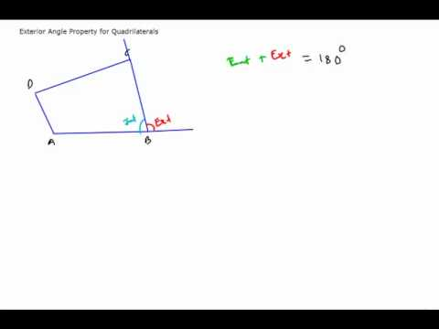 Amazing Quadrilaterals   06 Exterior Angle Property For Quadrilaterals