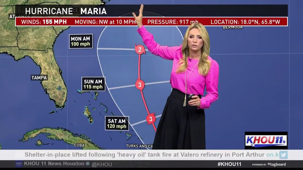 Khou Weather Map.Latest On Hurricane Maria Houston S Weather Forecast Youtube