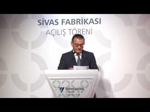 Votorantim Cimentos, Sivas fabrikası açılış töreni