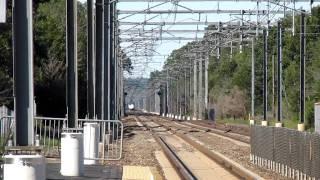 Acela Express Blows by Kingston Train Station (Kingston, Rhode Island)
