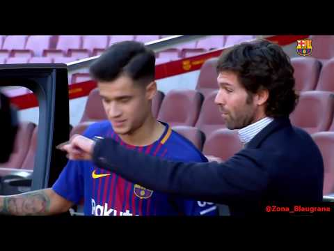 Philippe Coutinho First Day on FC BARCELONA The presentation of Philippe Coutinho with FC Barcelona
