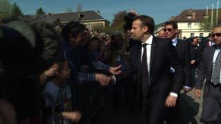 Saint-Dié-des-Vosges: arrivée d'Emmanuel Macron
