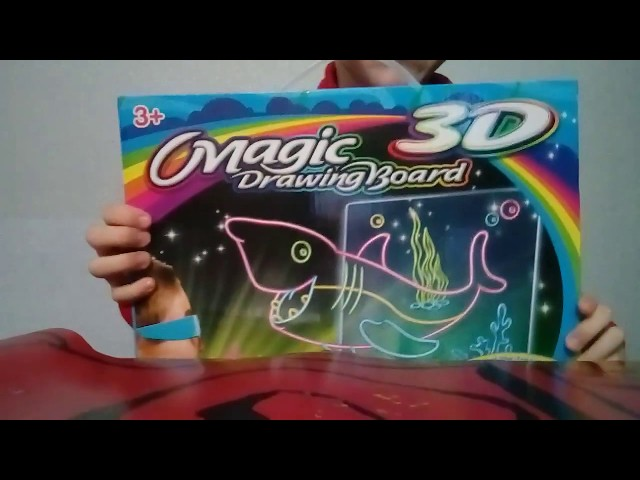 Распаковка Magic Drawing Board 3D