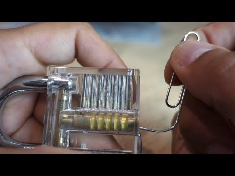 How to pick open a lock with paper clip - life hack