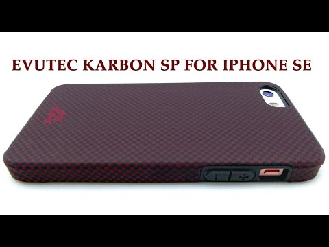 Sleek Mil-Spec Protection with Kevlar: Evutec Karbon SP for iPhone SE!