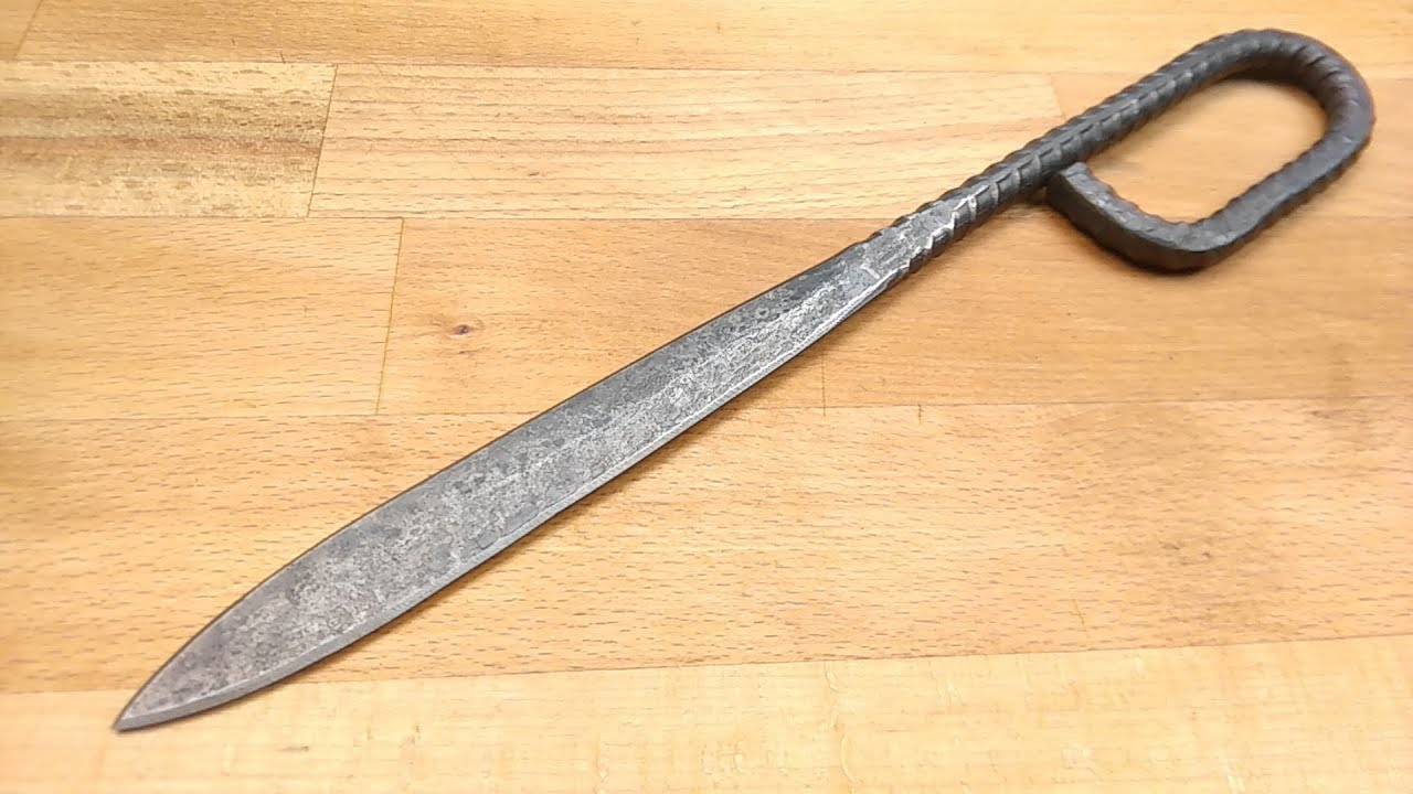 Blacksmith Projects: WW1 French Nail with Rebar - YouTube