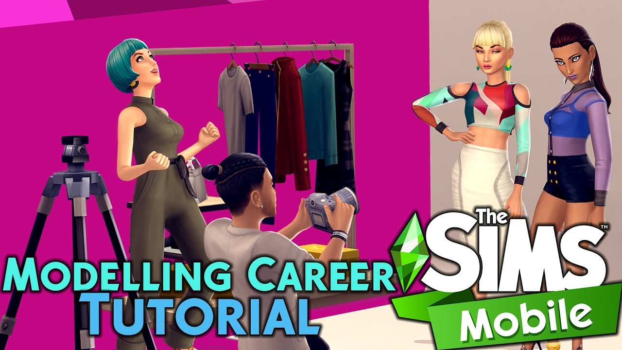 How To Join The Modelling Career Story Sims Mobile Tutorial Youtube