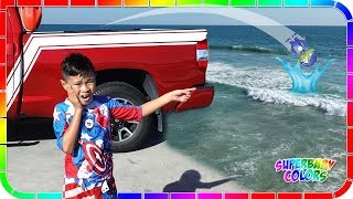 I lost Robo Ryan in the Ocean!!! Ryan's World Toys #3 🏄🤣😆