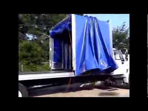 Flatbed Truck For Sale >> Conestoga Flat Bed Cover by Fleetco - YouTube