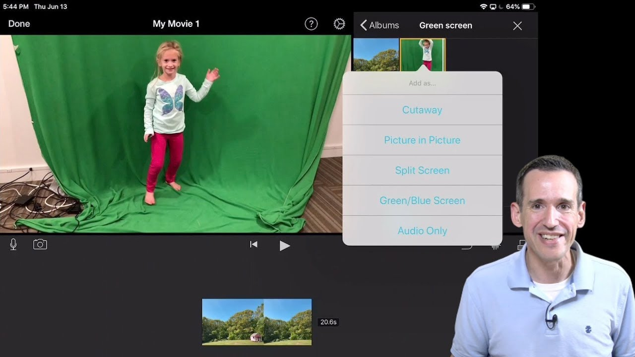 How to Use Green Screen in iMovie for iPad and iPhone / iOS