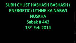 Mohammad Yunus Palanpuri - Sabak - 442 - SUBH CHUST HASHASH BASHASH ( ENERGETIC) UTHNE KA..
